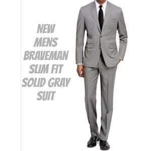 Other - ❗️Sale❗️New Braveman Mens Slim Fit Gray Suits